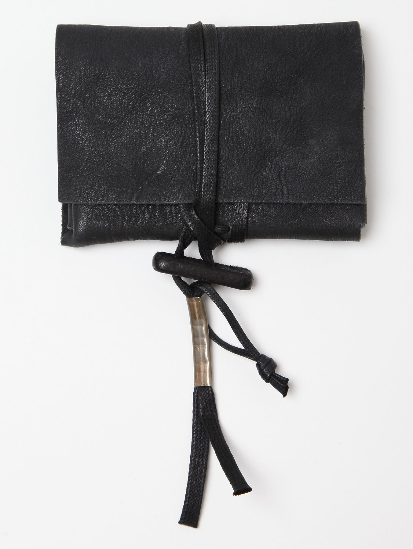 BORIS BIDJAN SABERI, SS11 LEATHER POUCH WALLET: that toggle. #boris_bidjan_saberi #leather #bag #wallet