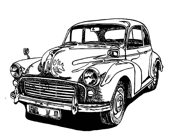 Drawing Classic Car Coloring Pages – NetArt