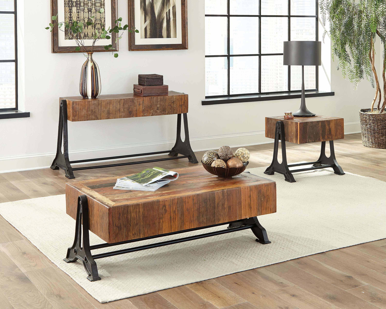 Black Wood End Tables