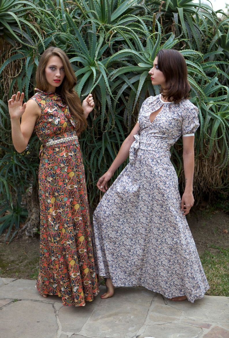 e662c458ba Floral Maxi Dress with Sleeves, Liberty of London Belted Dress ...