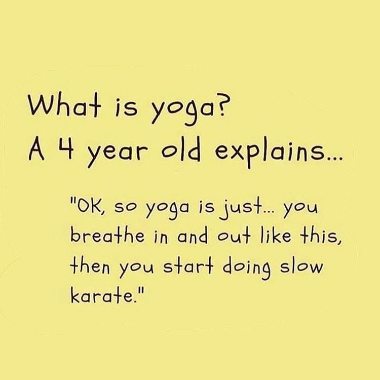 """YOGA FOR NEWBIE on Instagram: """"The innocence of a child's mind. So cute but so true 🤣 . Want to start yoga? . Follow @yogafornewbie for more pics & flows 🔑 . Credit:…"""""""