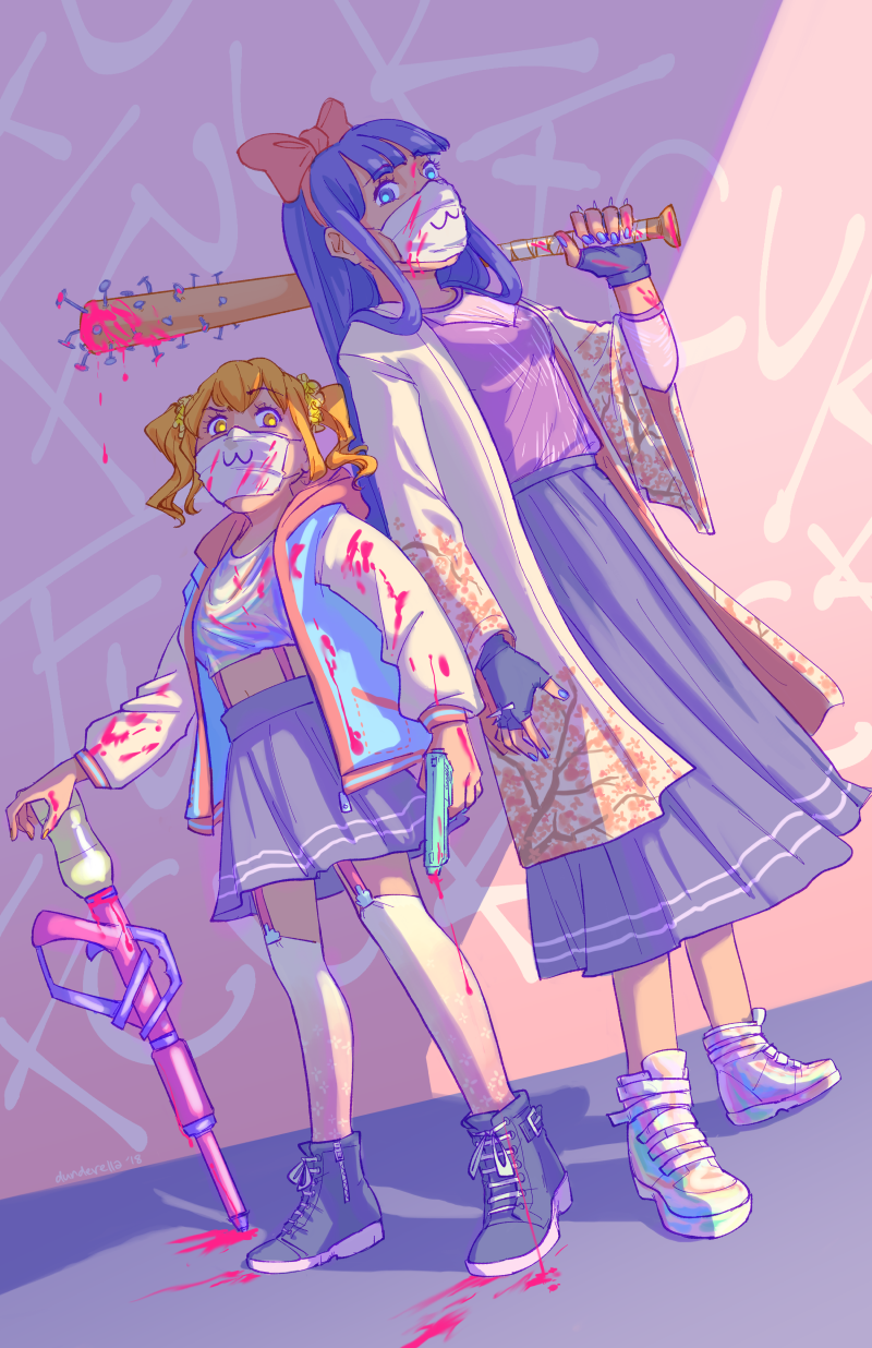 Pop Team Epic 11x17 Print In 2020 Epic Art Art Reference Anime