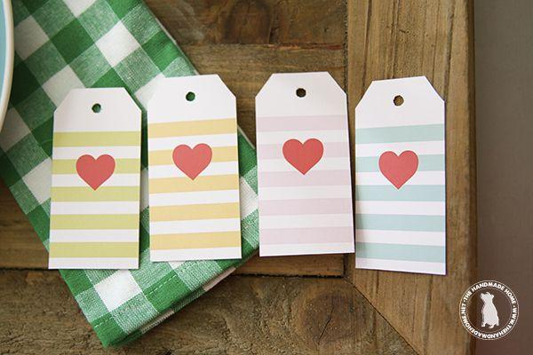 valentines cookies {& a free printable} - the handmade homethe handmade home