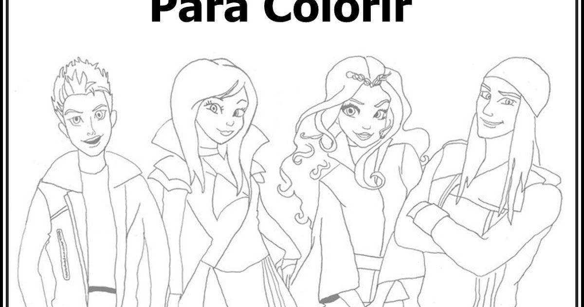 Desenhos Para Colorir De Descendentes Pesquisa Google Desenhos