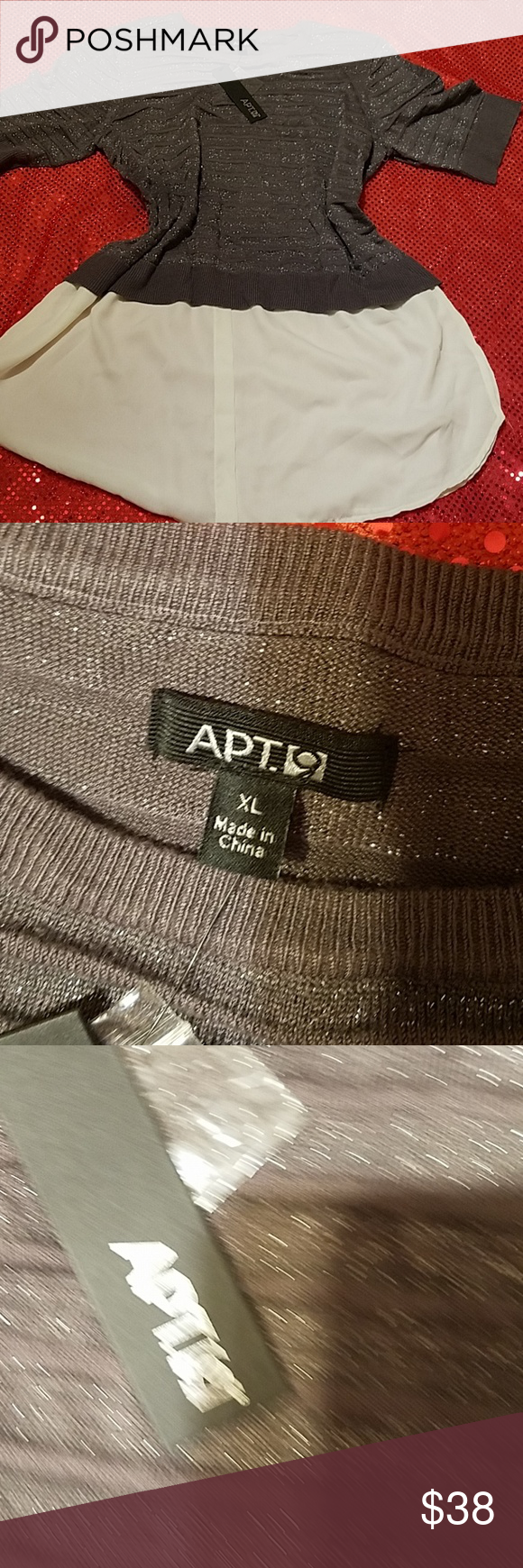 Apt9 Top With Built In Undershirt Extra Large Nwt In 2018 My Posh
