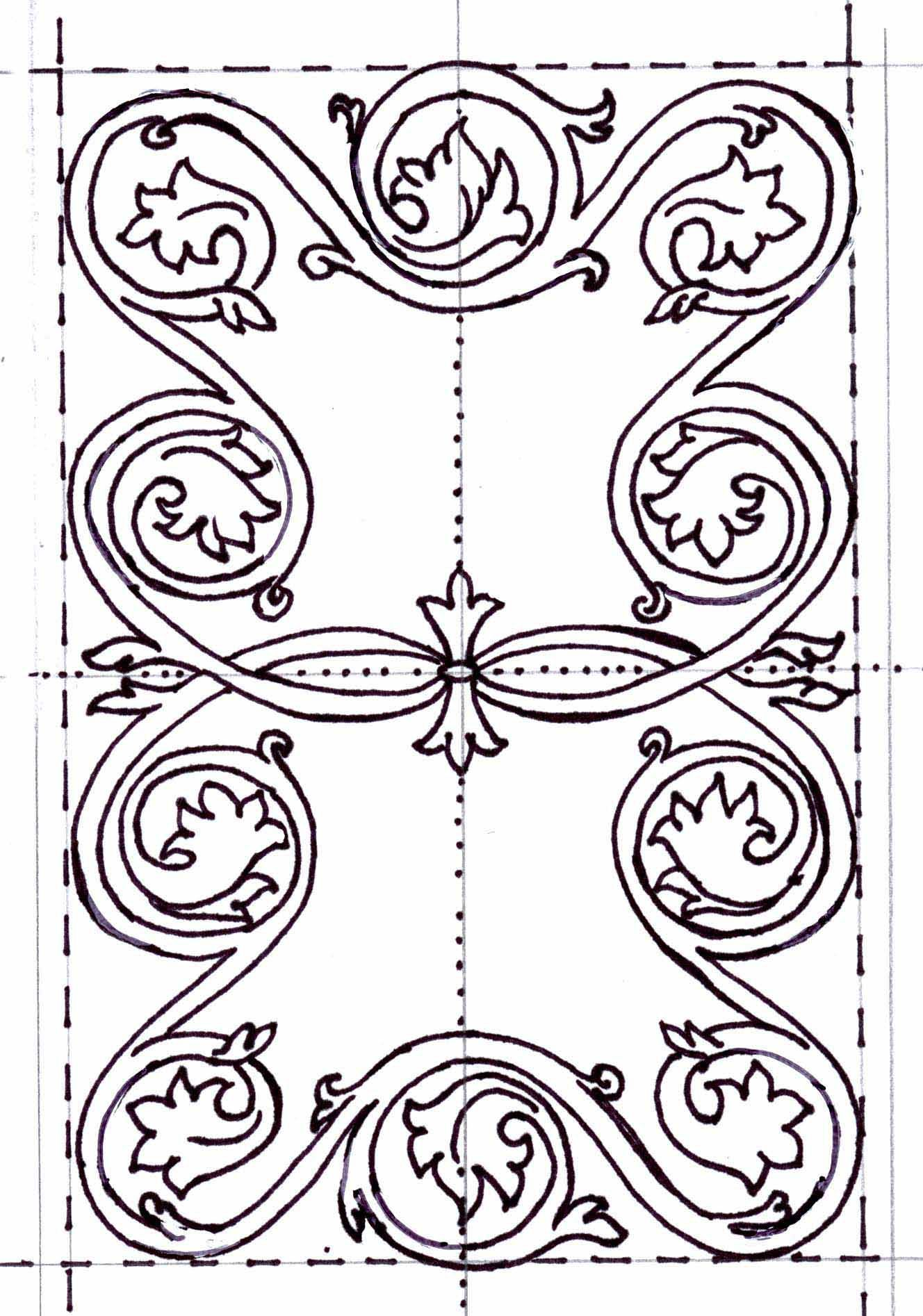 Girdle book embroidery pattern | blackwork | Pinterest | Embroidery ...