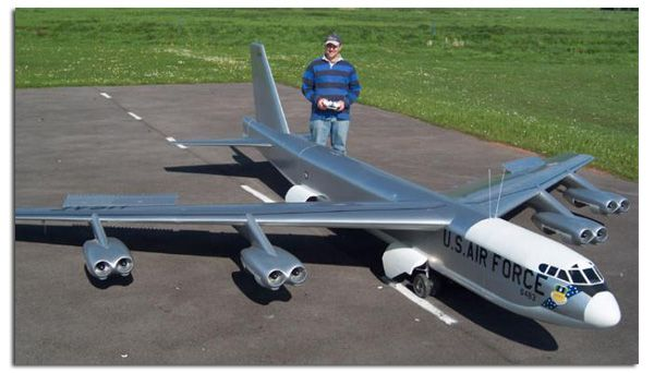 Gigantic Scale Radio Controlled B-52 with 22 foot wingspan