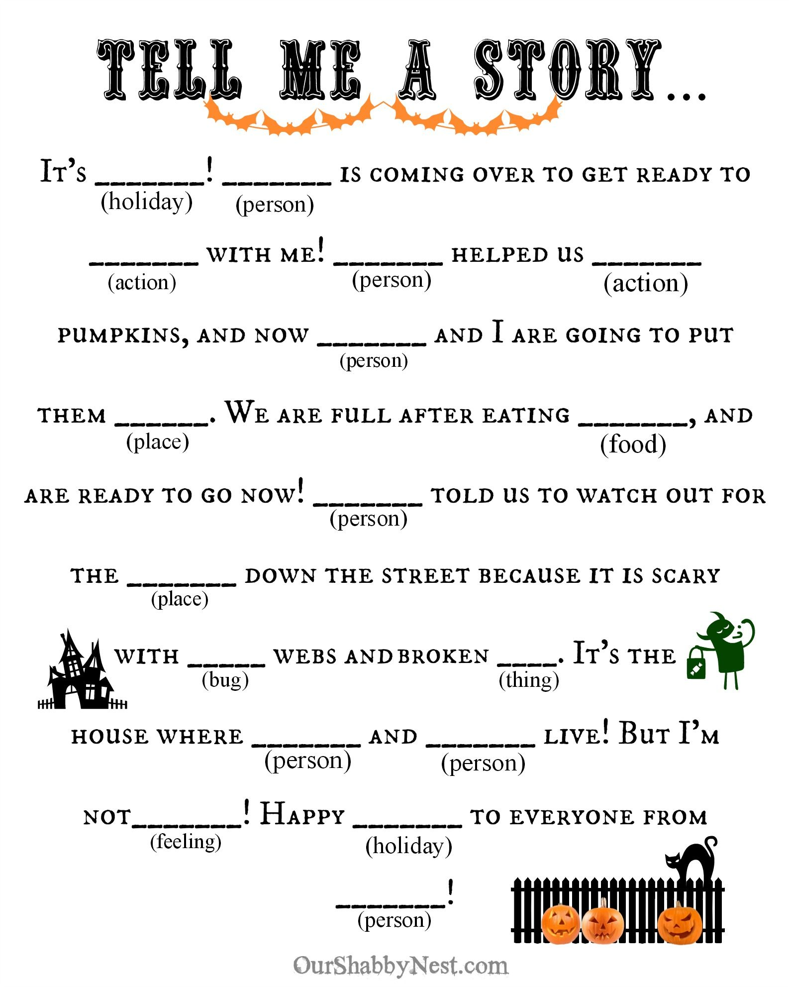 Halloween Mad Libs