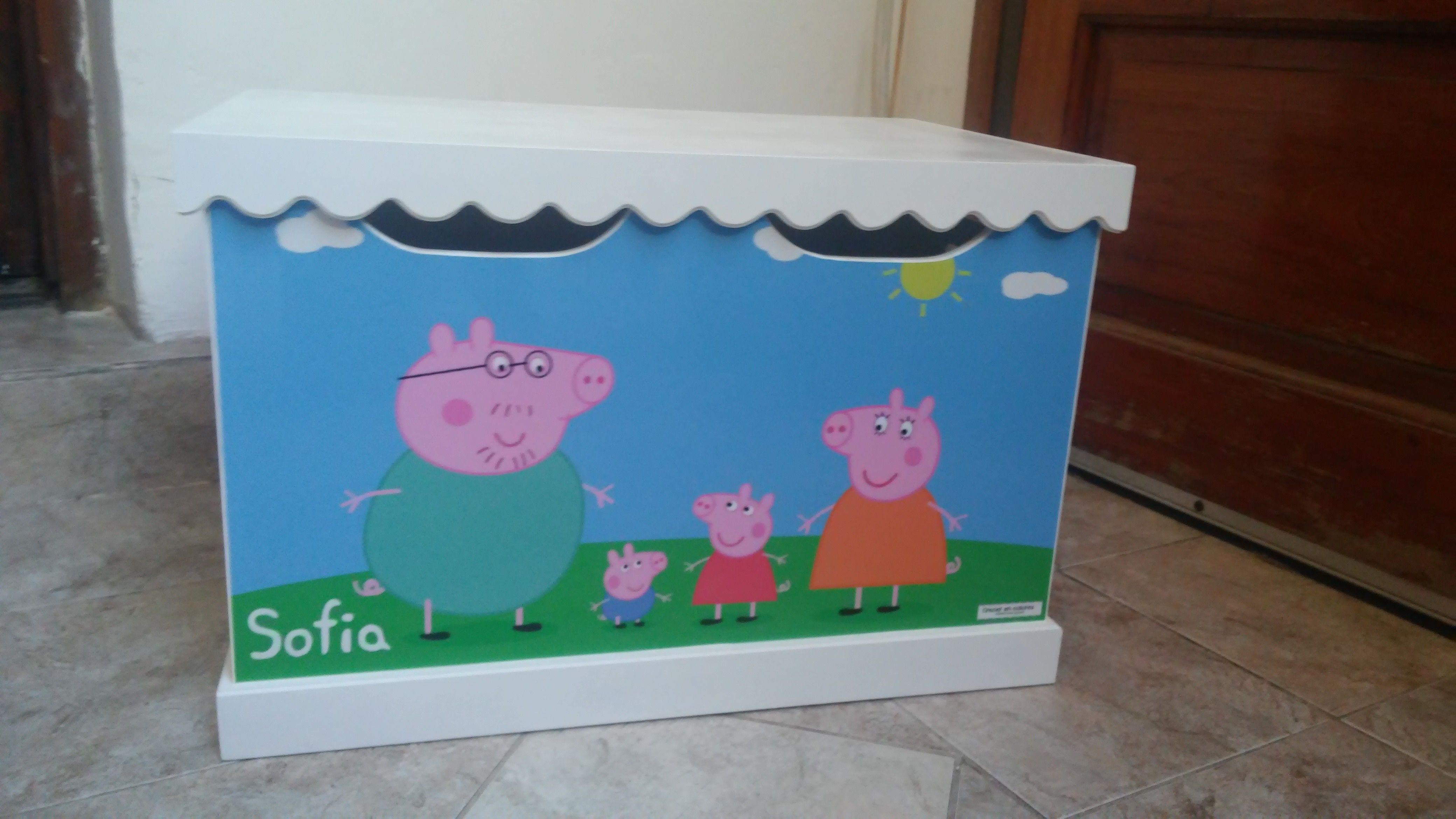 Baul Infantil Tem Tica Peppa Pig Muebles Infantiles Tem Ticos  # Muebles De Peppa Pig