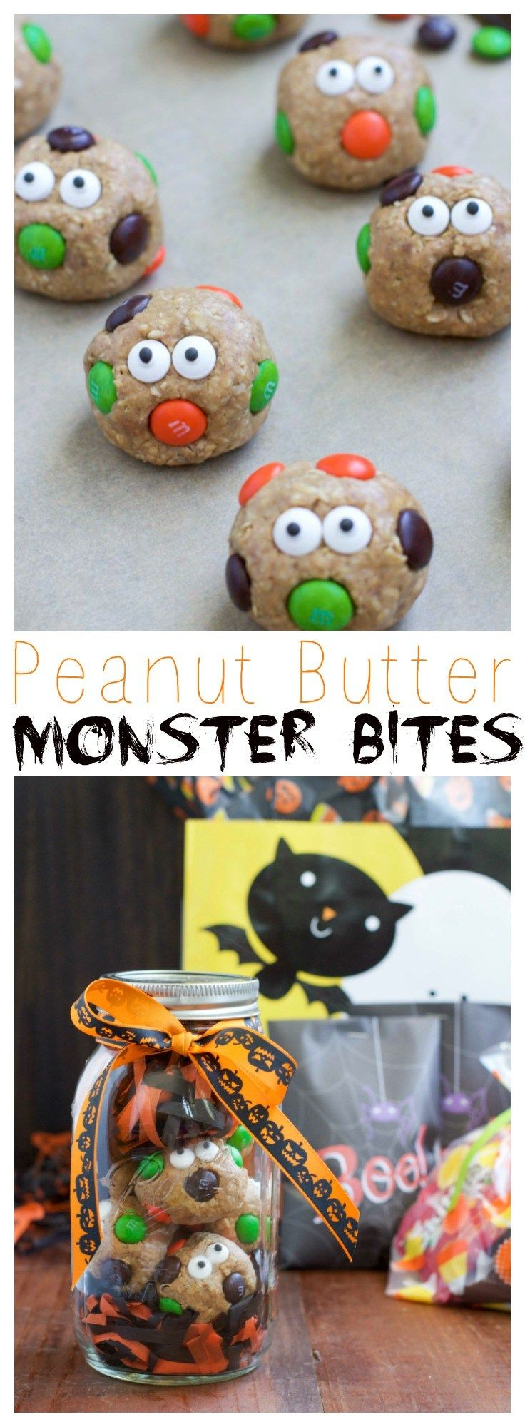 Halloween Peanut Butter Monster Bites Halloween cooking