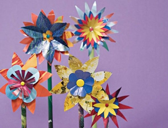 Crafts For Kids How To Make Glossy Paper Flowers Paper Flowers
