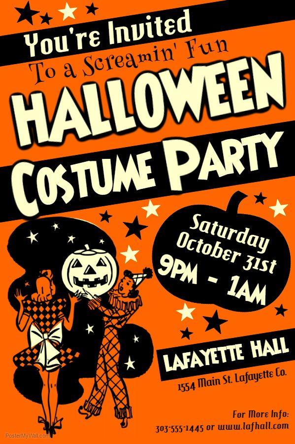Halloween Costume Party Template. Click on the image to