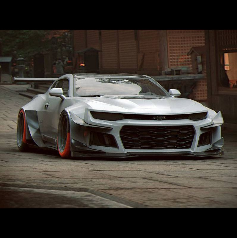 Wide Body Chevrolet Camaro Zl1 Muscle Cars Cars