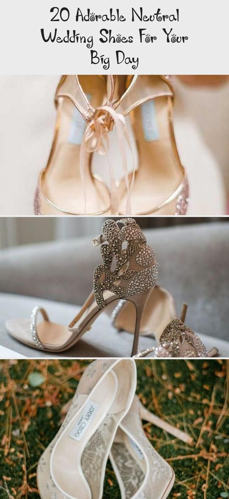 20 Adorable Neutral Wedding Shoes For Your Big Day -  Women Shoes