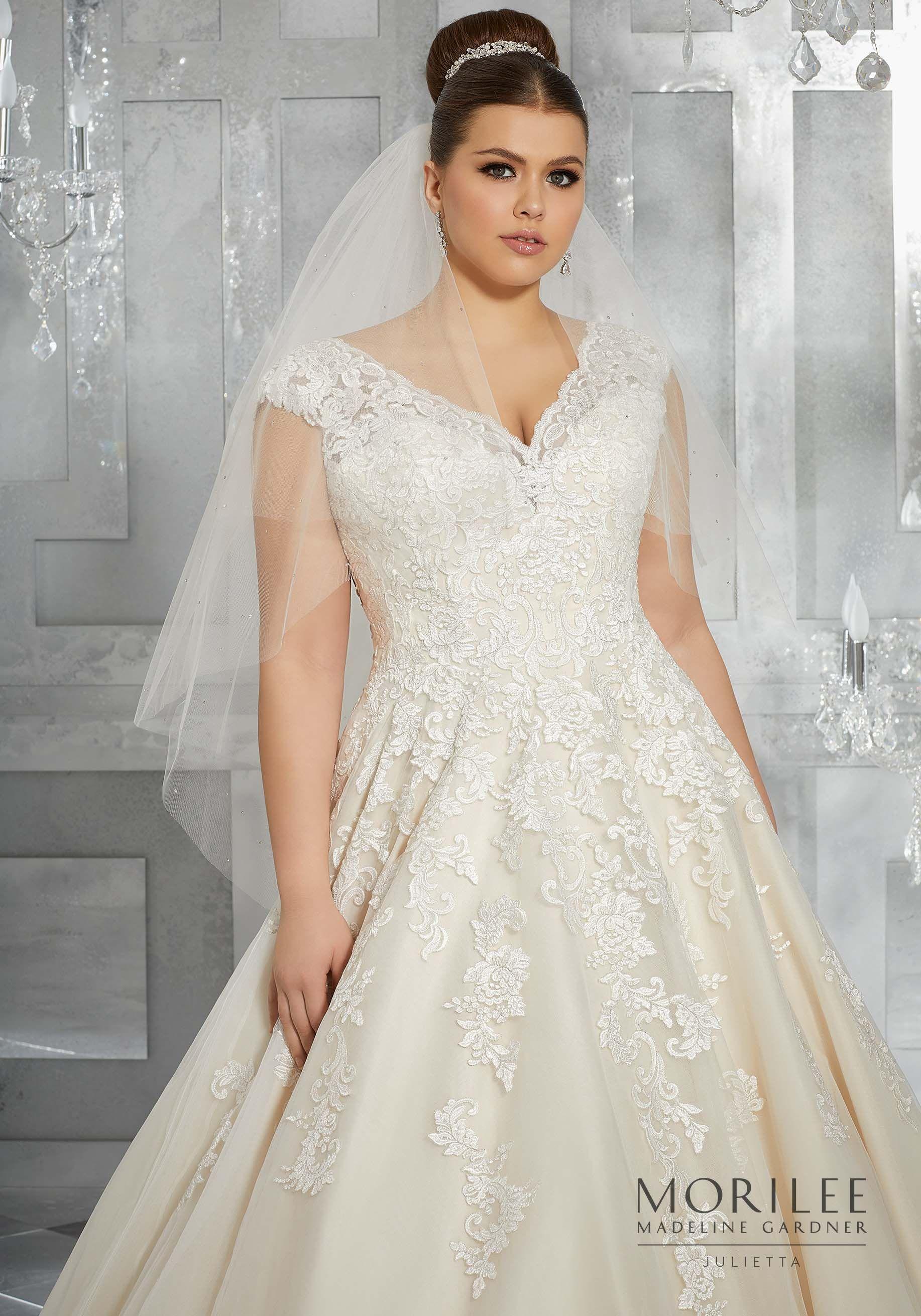 Plus size tulle wedding dress  Morilee  Madeline Gardner Moiselle Plus Size Wedding Dress