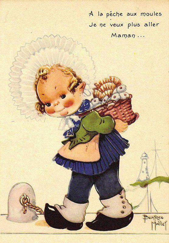 Béatrice Mallet - Illustration - A la Pêche aux Moules