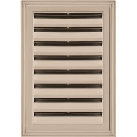 Builders Edge 6 In X 6 In Wicker Rectangle Vinyl Gable Vent 1200612180 Products Gable Vents Fiberglass Screen Roof Vents