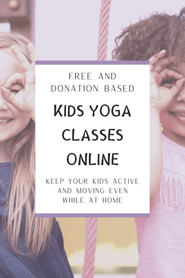Find tons of options of free and donation based kids yoga