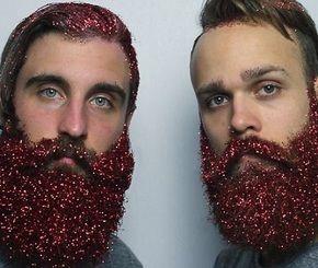 موقع القيادي ستايل Glitter Beards Glitter Wine Glasses Glitter Wine