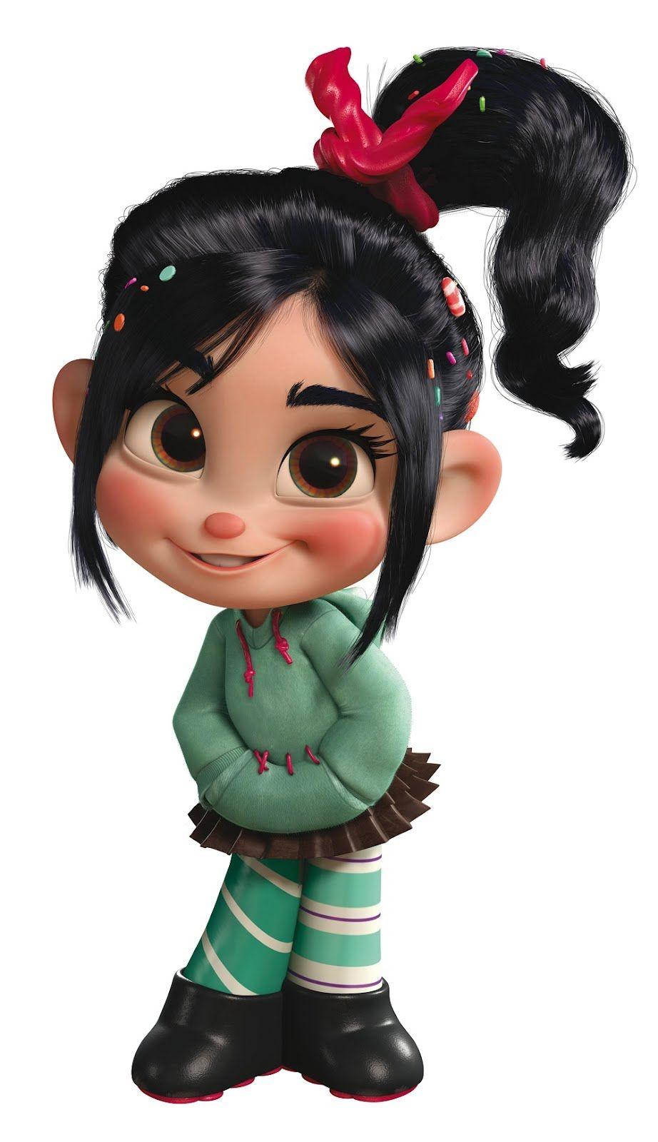 cute 3d girl cartoon character. … | hair | p…