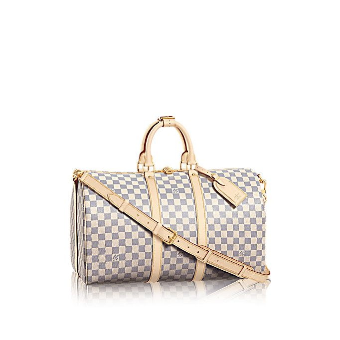 4fcb08f155a2 Keepall Bandoulière 45 Damier Azur Canvas in WOMEN s TRAVEL collections by Louis  Vuitton