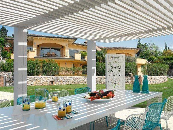 Schattenspender Garten-Überdachung Pergola Well yes - Ähm - mediterrane terrassenberdachung