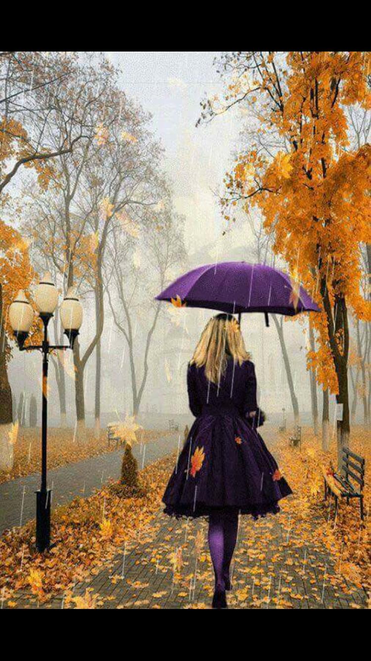 Hello Autumn! The Contrast Of Purple And Orange!