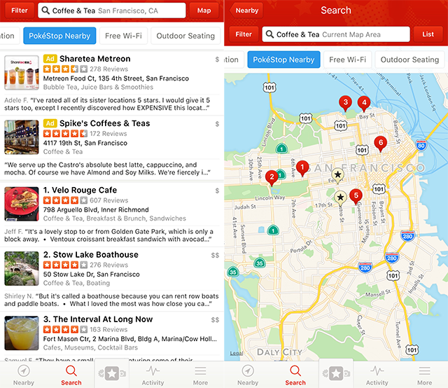 Yelp Update Helps Pokemon Go Users Find Nearby PokeStops | Social