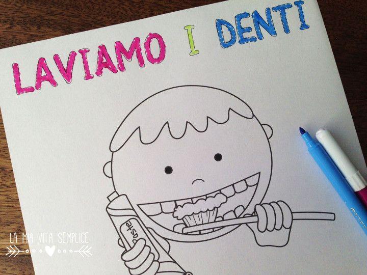 Disegno Bagno Da Colorare : Disegno da colorare un bimbo si lava i denti con spazzolino e