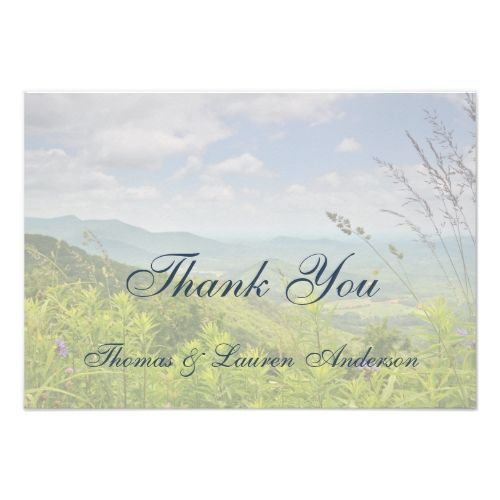 Mountain Wedding Save the Date Cards Beautiful Scenic Mountain Country Spring Thank You Card