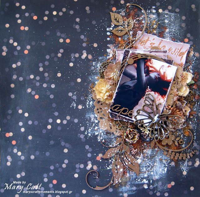Mary's Crafty Moments: ''Escape'' - A DT Layout for 2Crafty Chipboard wit...