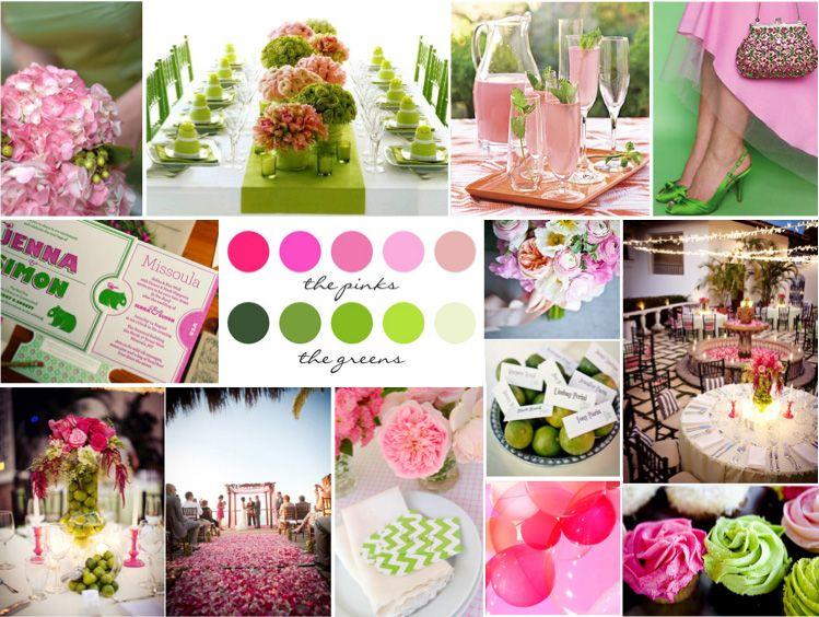 Green And Pink Wedding Theme Choice Image - Wedding Decoration Ideas