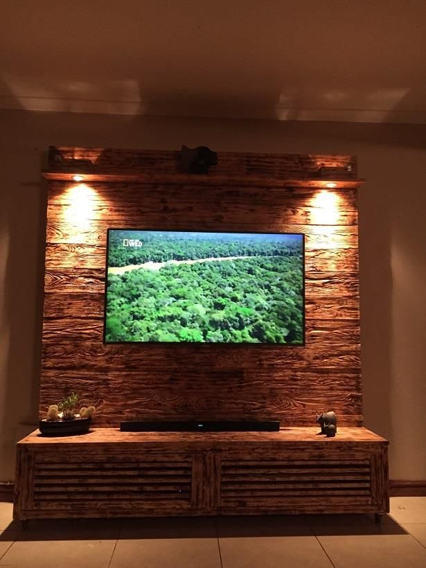 From the Red Barn Range a TV Wall unit out of reclaimed Baltic Pine ...