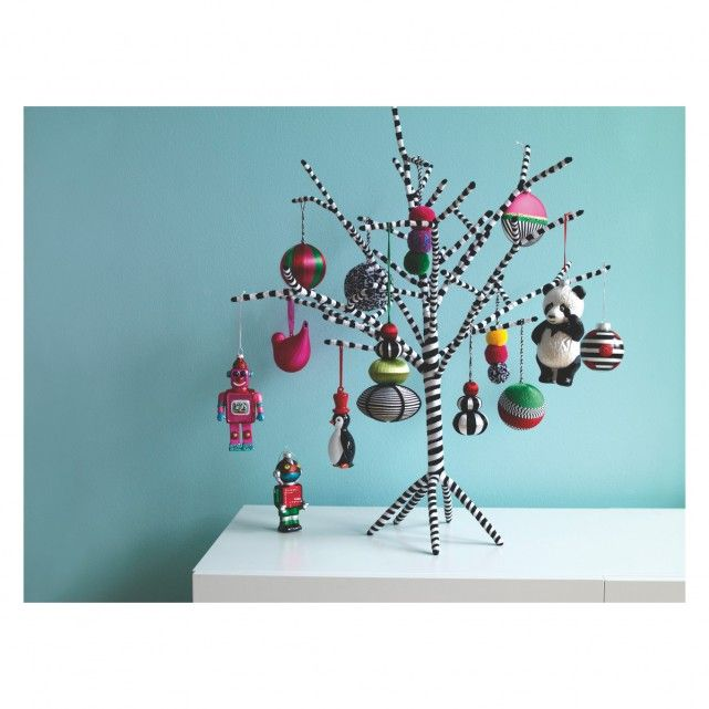 Habitat Christmas Trees: ROBOT Set Of 3 Multi-coloured Christmas Tree Decorations