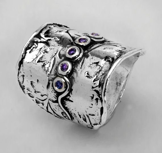 49814ce6a Shablool Didae Israel 925 Sterling Silver Amethyst CZ Ring, All Sizes  Available