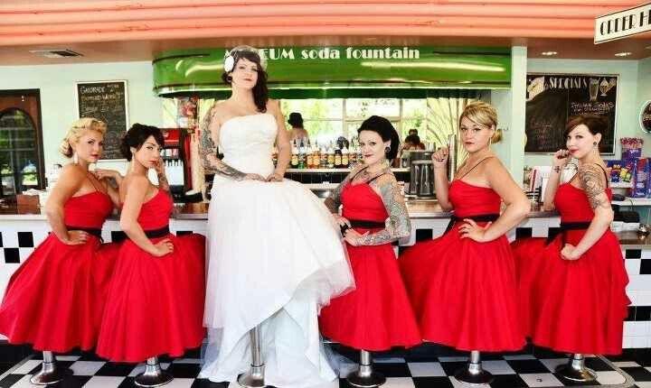 Perfect Wedding Rockabilly Wedding Wedding Bridal Party Moon Palace Cancun Wedding