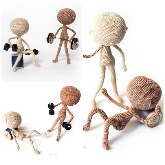 patrones ganchillo base de modelo muñeca cuerpo miniatura | Monos ...