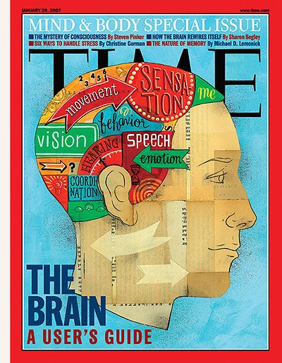 Time Magazine Cover The Brain Collage 2D Illustration Covers