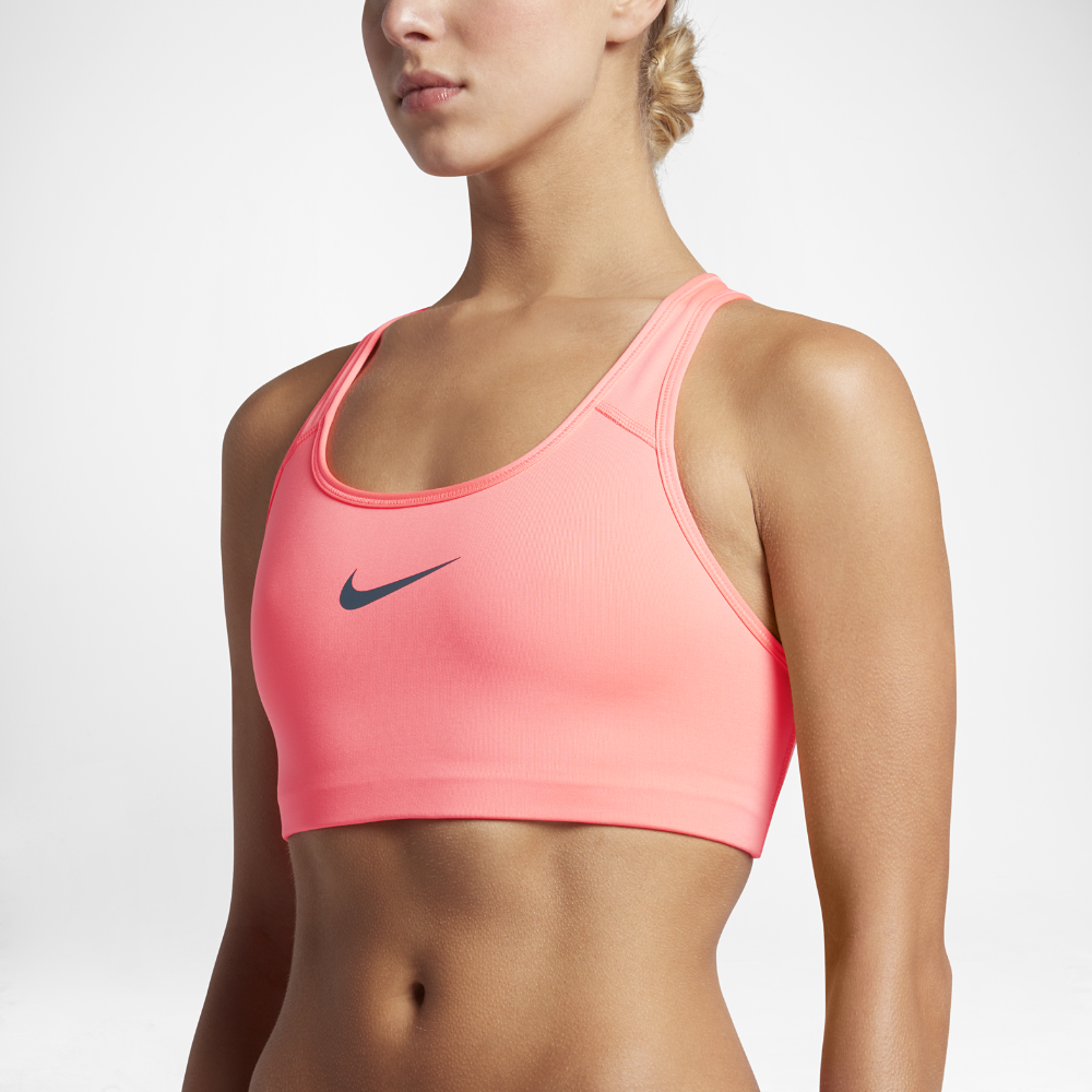 70338f9f5a Nike Pro Classic Swoosh Women s Medium Support Sports Bra Size Small (Pink)  - Clearance Sale