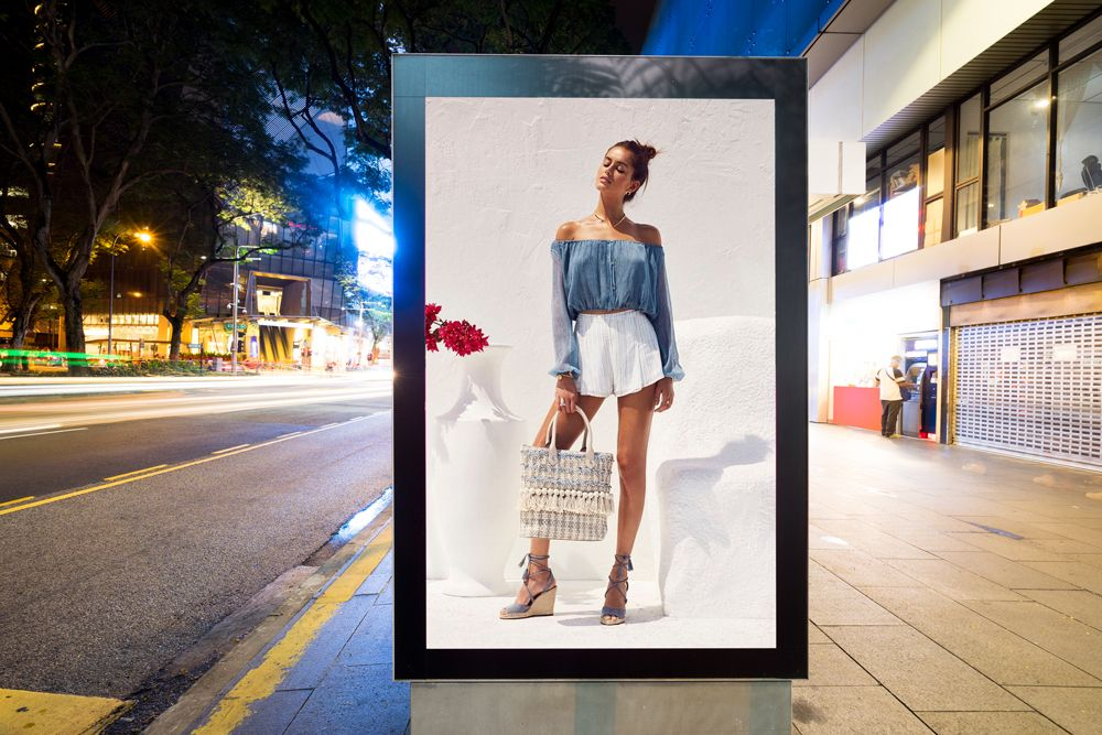 Free City Street Advertisement Vertical Billboard Mockup Billboard Mockup Mockup Mockup Psd