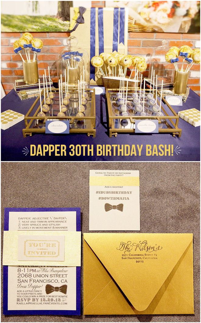 Dapper 30th Birthday Bash On Pizzazzerie Guys Party