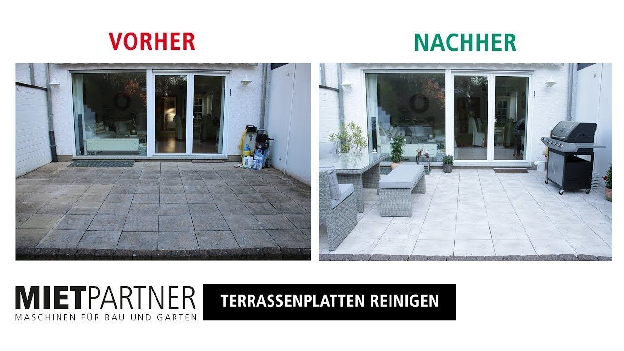 Mit Dem Hochdruckreiniger Terrasse Reinigen Und Versiegeln