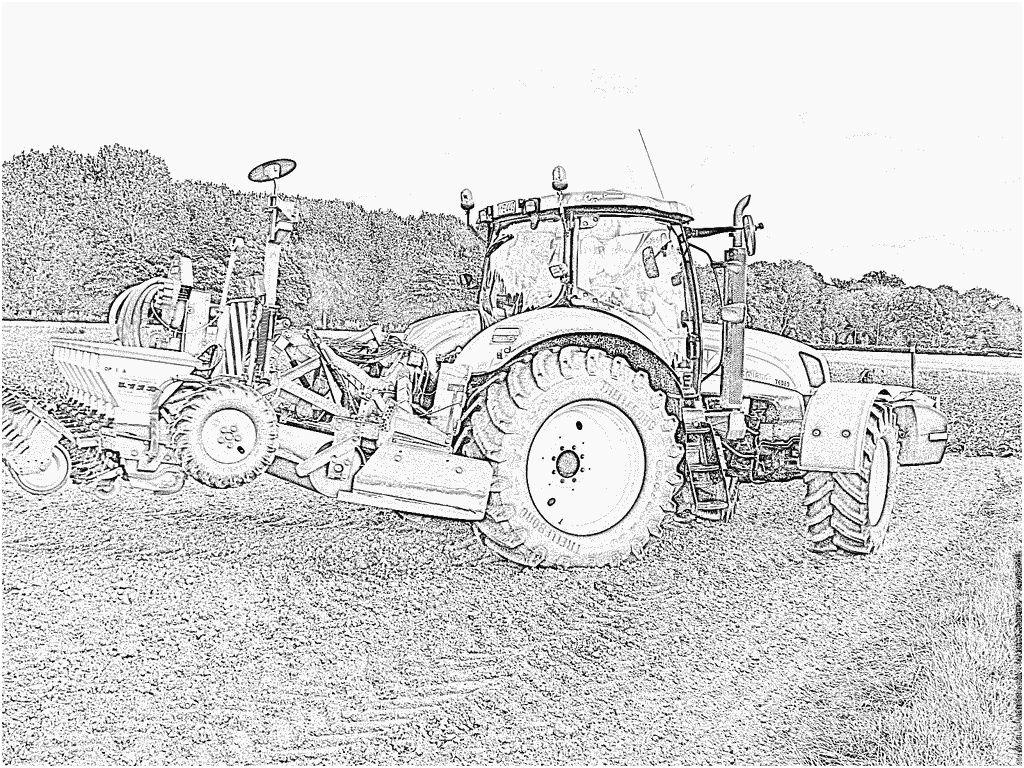 14 Largement Coloriage Tracteur Remorque Photos