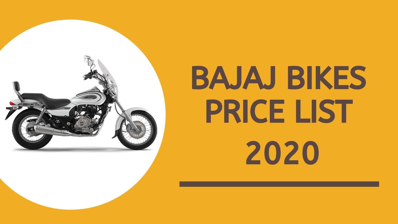 Bajaj Bikes Price List 2020 Compare Price And Checkout Latest