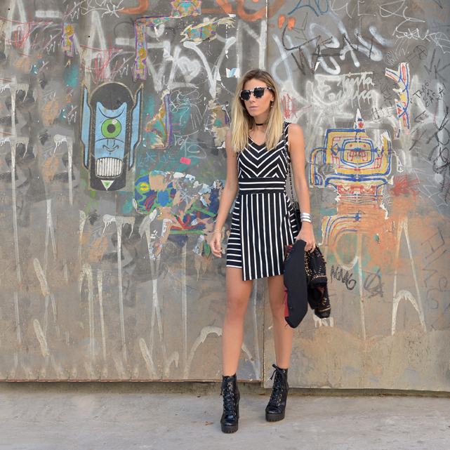 LOOKSLY - Nati Vozza com vestido de listras do Verão 2017