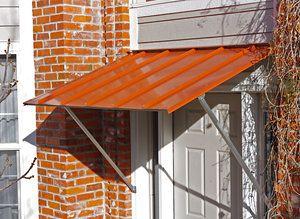 Austin Standing Seam Door Awning   Diy awning, Aluminum ...