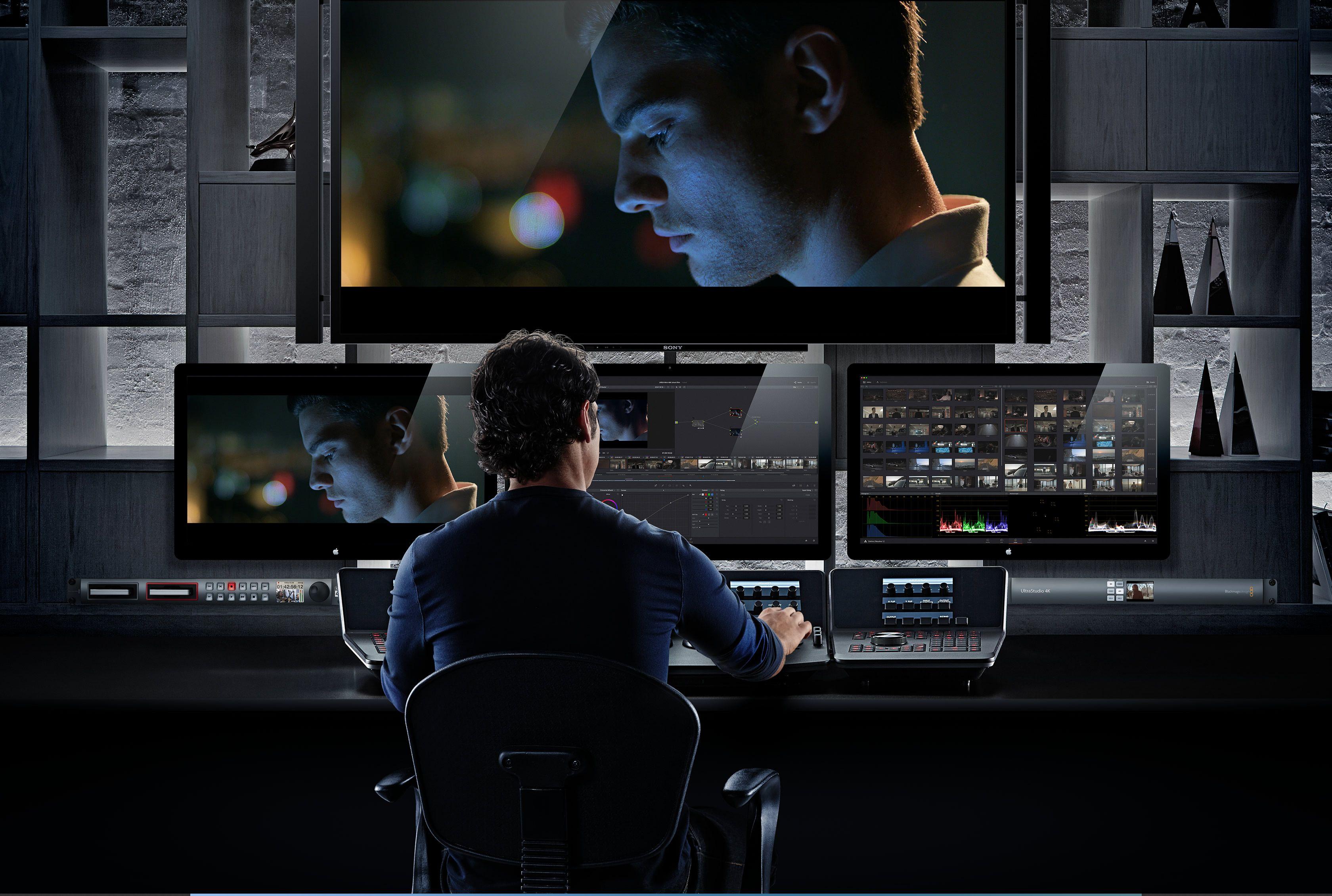 Blackmagic Design Davinci Resolve 12 Control Design Studio Workspace Recording Studio Design Editing Suite