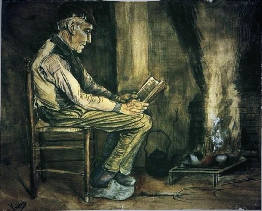 RT @nicole_gabri: Contadino seduto accanto al fuoco e la lettura Van #Gogh  matita,1881 Kröller-Müller #art pic.twitter.com/pR1SZBQYsS