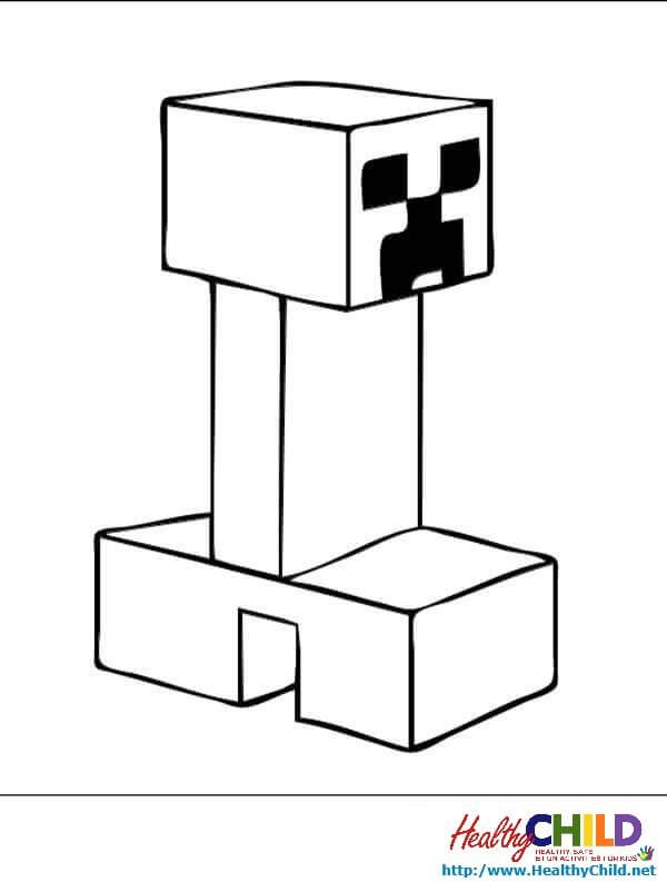 creeper-3 - Minecraft Coloring Pages | Minecraft coloring ...