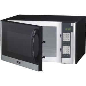 Oster 1 4 Cu Ft 1200 Watt Countertop Microwave In Black Ogg61403b The Home Depot Digital Microwave Countertop Microwave Microwave Oven